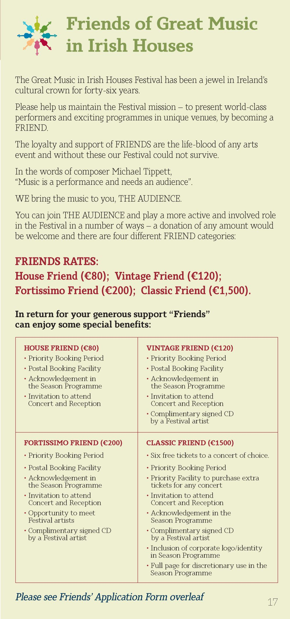 GMIIH Festival Brochure 2016 - Friends info